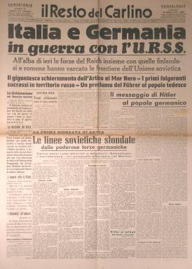 Italia e Germania in guerra con l'URSS